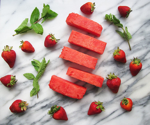 Strawberry Watermelon Mint Sorbet