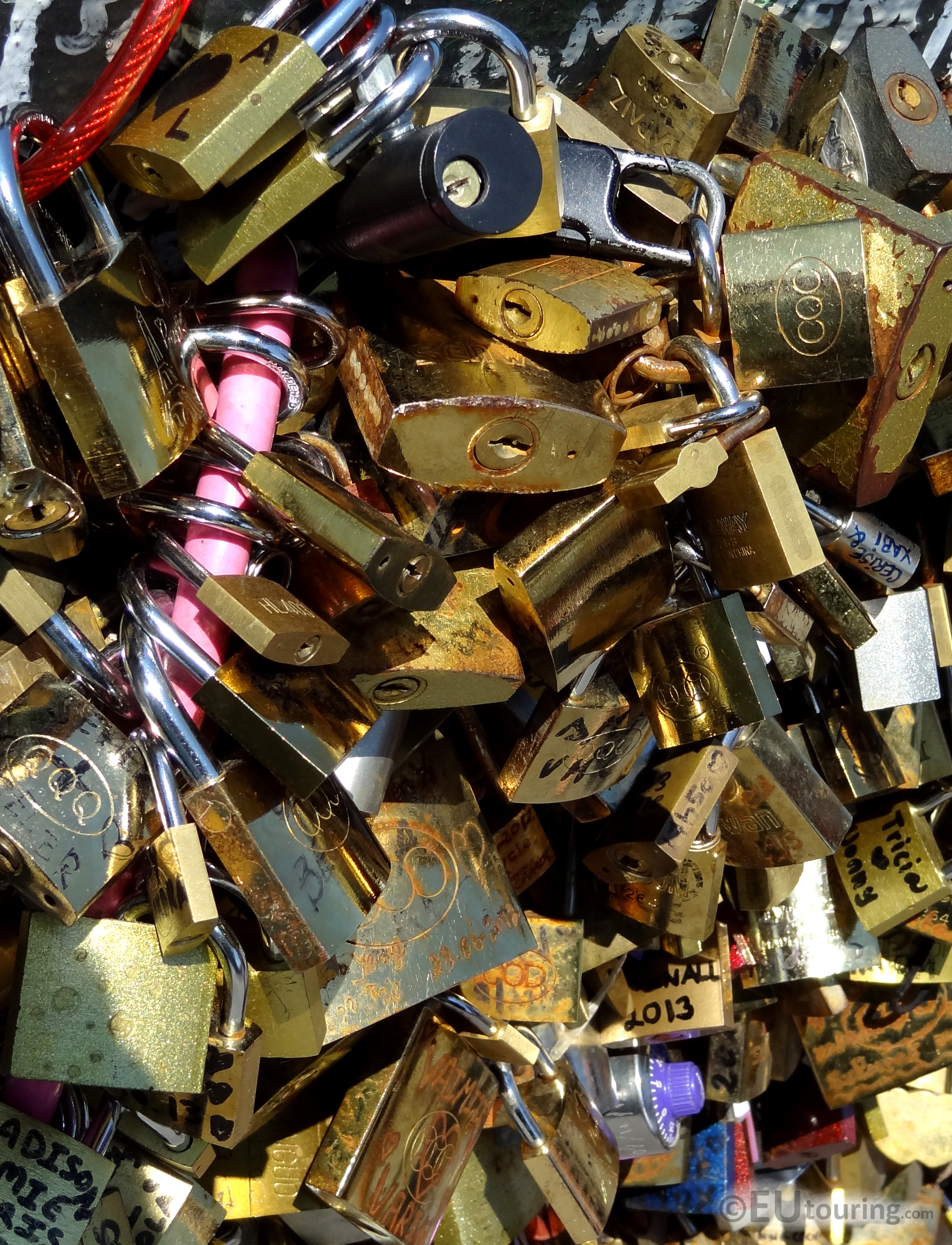 Locks on the Lovers Bridge