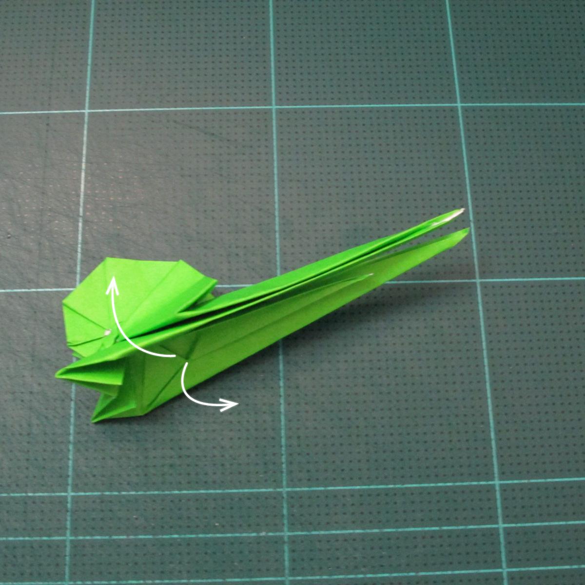 วิธีพับกระดาษเป็นรูปหอยทาก (origami Snail) 024