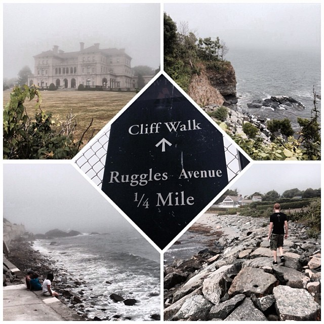 Taking in the mansions at Newport�s (free) Cliff Walk