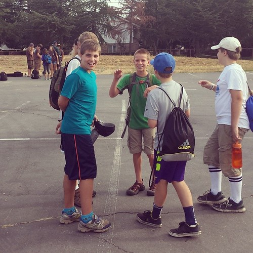 Waiting for buddies, and for roll call. Camp Winthers,  here they come! #summer #boys #kids #waldorf #friends # camp
