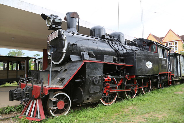 Steam locomotive at Da Lat Railway