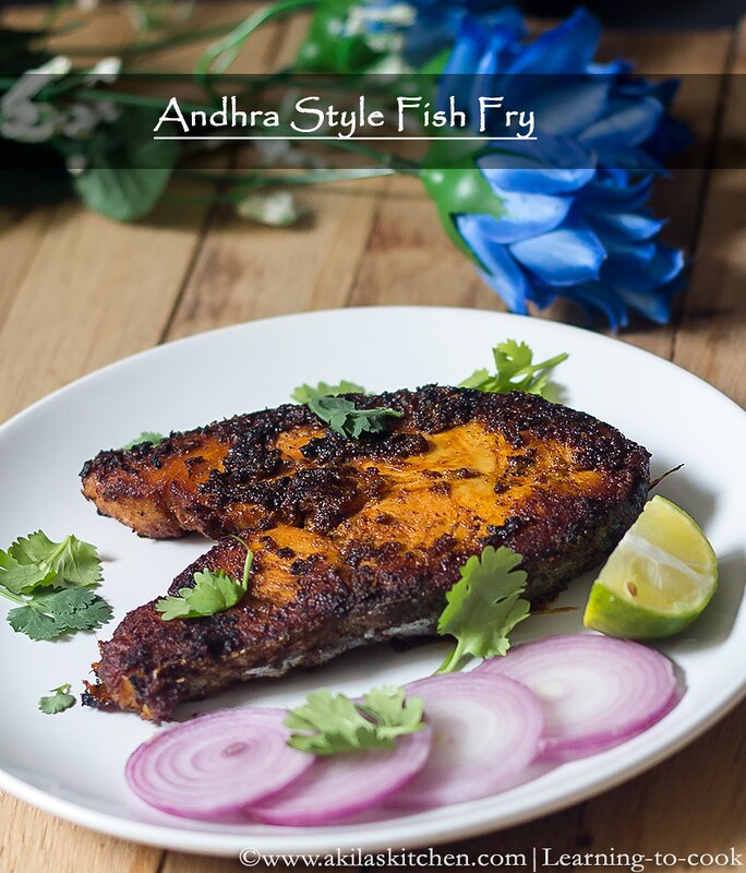 Learning to cook andhra style fish fry south indian for Easy fish fry recipe