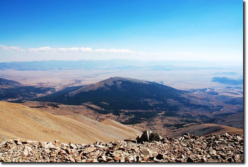 Little Baldy Mountain (12,142'), seen from Mount Silverheels' summit