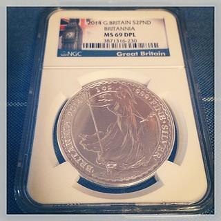 Britannia £2 silver coin. #numismatics