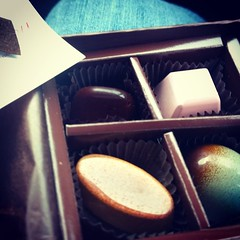 Delicious artisan Fannie May chocolates.