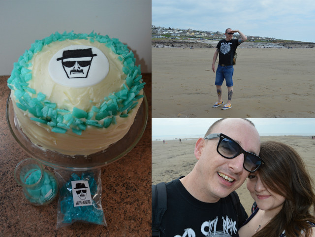 This is a picture of a breaking bad themed cake that I made and a trip to the seaside.
