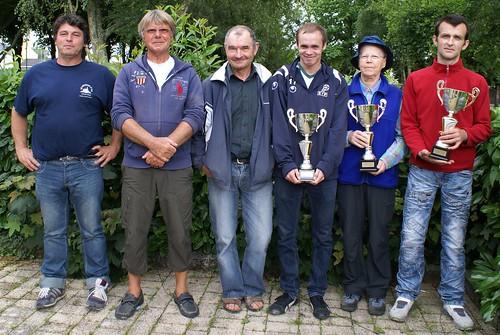 02/08/2014 - Mille club (Morlaix) : Les finalistes du concours de boules plombées en triplettes formées