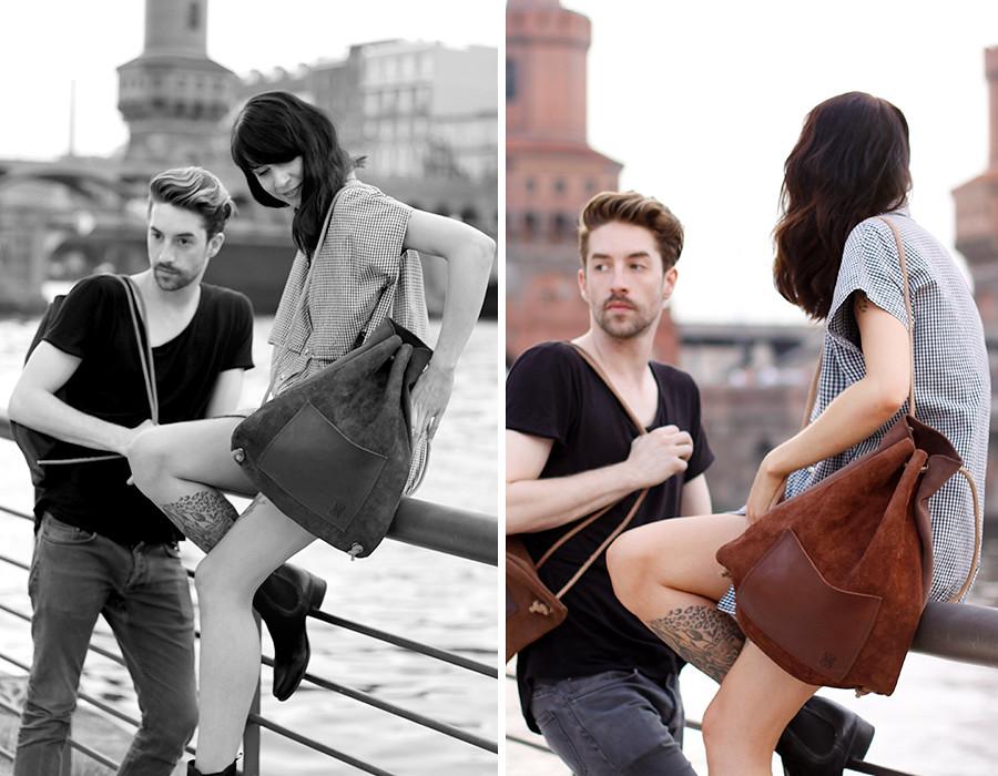 Hevan Berlin backpack couple shooting Berlin Kreuzberg cute story fashion men girl boy nautical river fashion blogger CATS & DOGS Ricarda Schernus 2