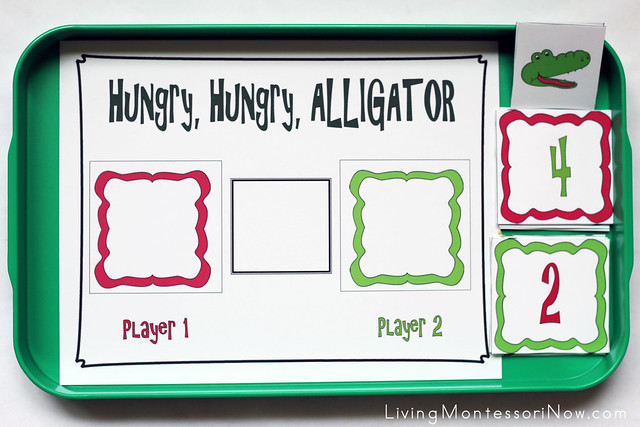 Hungry, Hungry Alligator Greater Than, Less Than Math Game