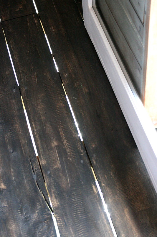 I love how they have deliberately set the floorboards slightly apart - you see the ocean right below