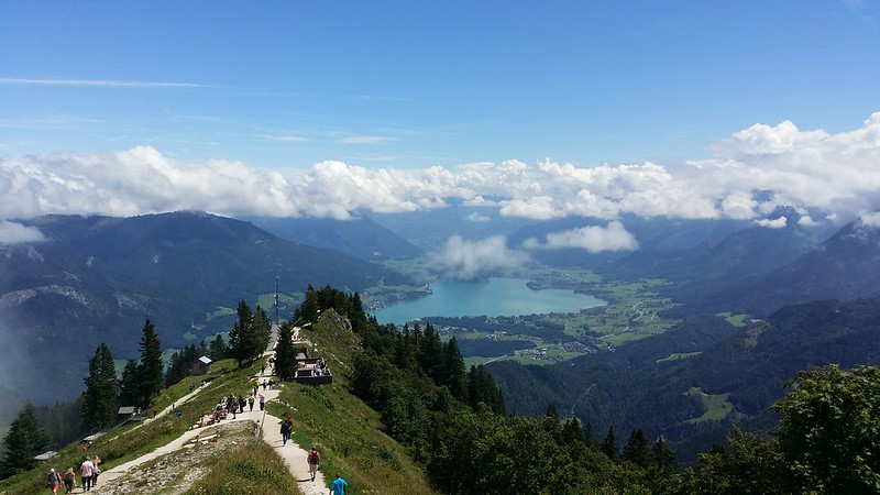 Looking down to Wolfgangsee from the summit of Zwölferhorn