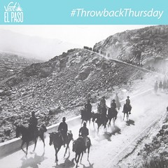 #ThrowbackThursday 1st Cavalry Division units ride down the east side of Scenic Drive in the 1920s. This Cavalry has served the nation from 1855 to the present - the division was formally activated on September 13, 1921 at Fort Bliss. #ItsAllGoodEP