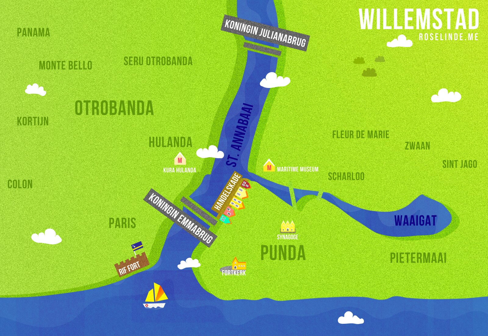 Map for Willemstad City Guide