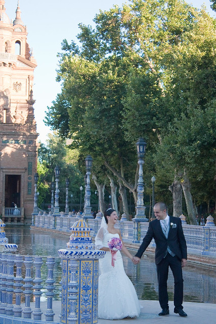 Plaza de Espana wedding photo