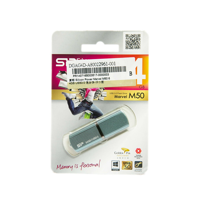 廣穎 Silicon Power Marvel M50 64GB USB3.0 隨身碟 @3C 達人廖阿輝
