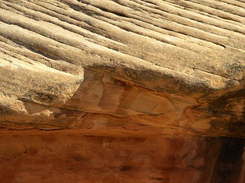 Detail of Mushroom Cap Rock Formations in Canyonlands National Park, Utah