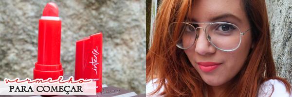 Usar vermelho na maquiagem - batom 350 da O Boticário