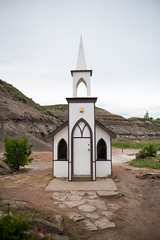 The Little Church, Drumheller, Alberta, Canada.