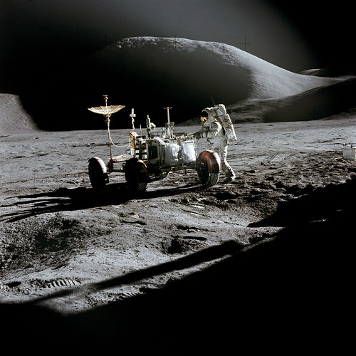 Apollo 15 and the Lunar Roving Vehicle (Archive: NASA, Marshall, 07/31/71)