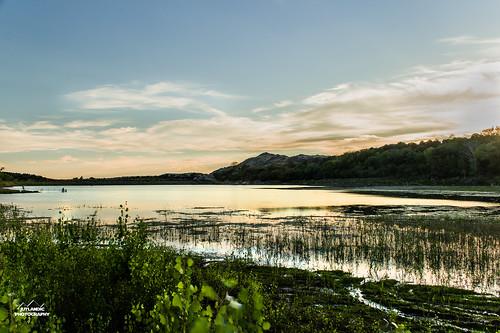 blue sunset reflection green water night clouds baker dusk reservoir jutlandicphotography