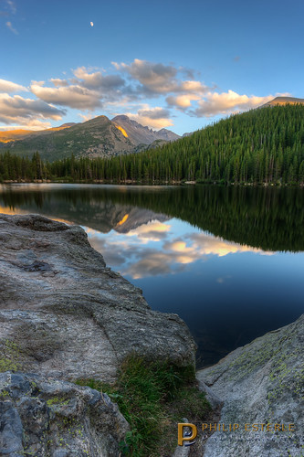 sunset usa mountains clouds landscapes us colorado skies lakes scenic rmnp longspeak skyscapes estespark forests hdr rockymountainnationalpark bearlake waterscapes landscapephotography pentaxk3 fingolfinphoto philipesterle