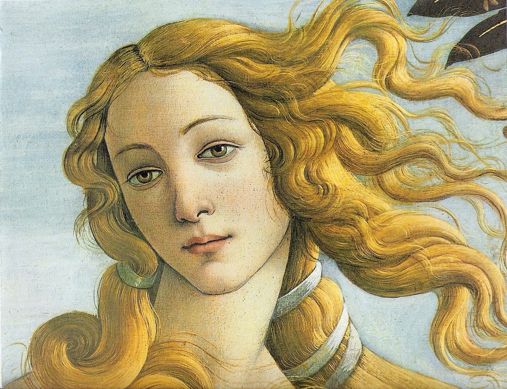 The Birth of Venus by Sandro Botticelli, Detail, Circa 1485