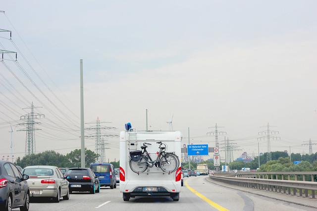 caravan met fiets