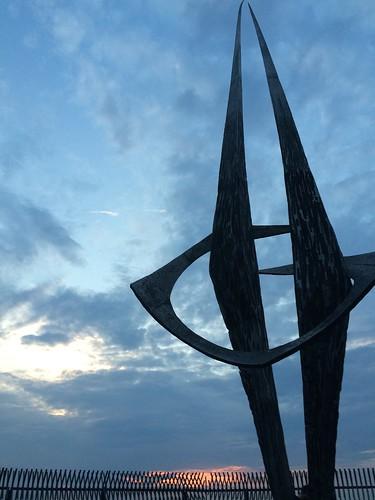 Berlin Park Volkspark Humboldthain futuristic sculpture