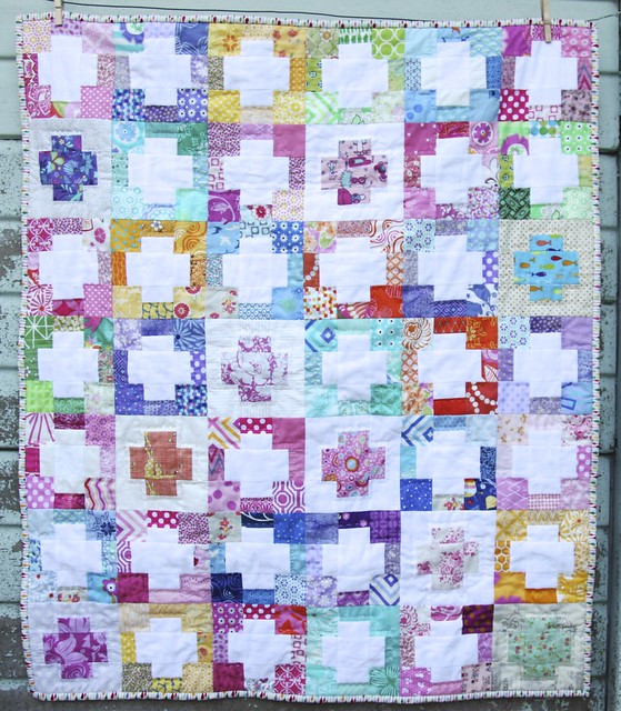 Scrappy Cross Baby Quilt
