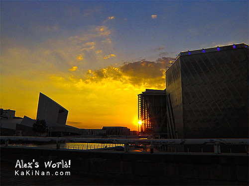 Sunset at The Lowry and Imperial War Museum