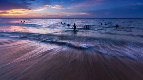 ocean blue sunset seascape beach water horizontal clouds landscape sand jamaica jamaicans runawaybay saintannparish canon5dmiii