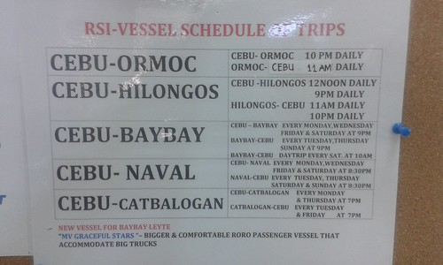 Roble Shipping Lines Schedule of Trips (August 6, 2014)