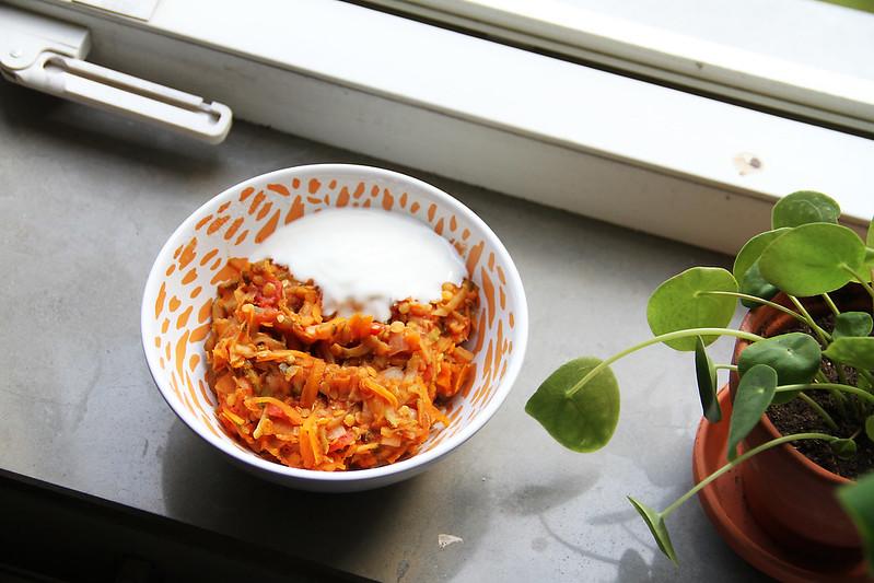 kryddig grönsaksgryta med linser