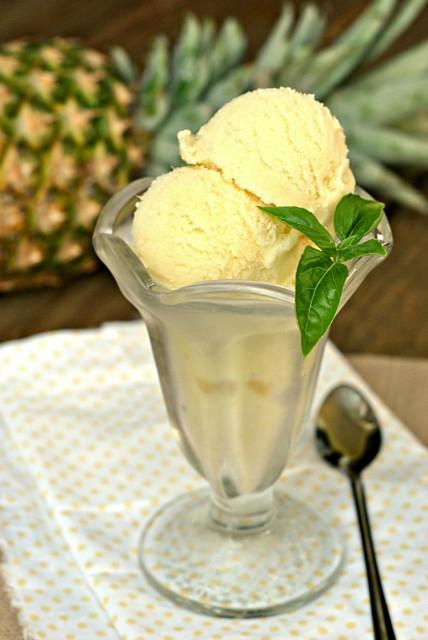 Creamy Pineapple Sorbet 2