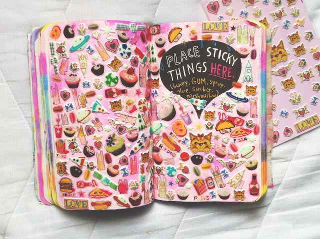 vivatramp place sticky things here wreck this journal example lifestyle art creative book blog
