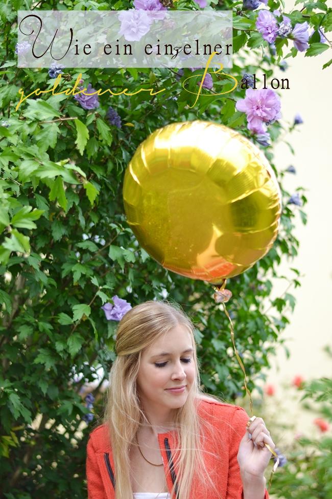 Outfit Wie ein einzelner goldener Ballon Banner