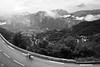 alpe d'huez view towards les deux alpes