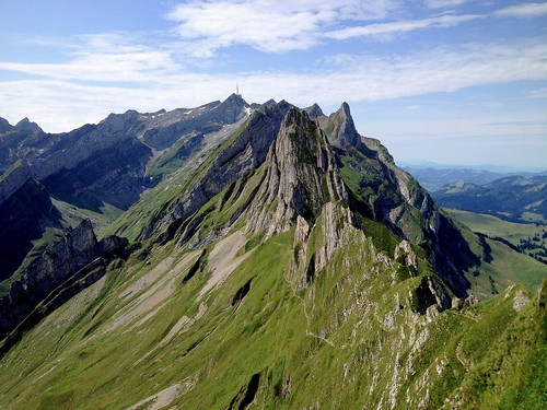 mountain mountains nature landscape switzerland scenery rocks hiking peak summit appenzell iphone säntis alpstein massif peterch51