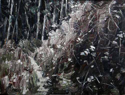 5.和丽斌作品《荒原. 昼与夜》布面油画 200×150cm 2012.10