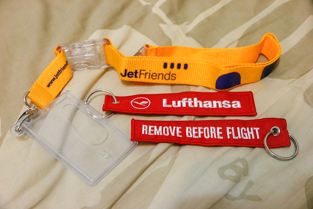 Lufthansa REMOVE BEFORE FLIGHT tag