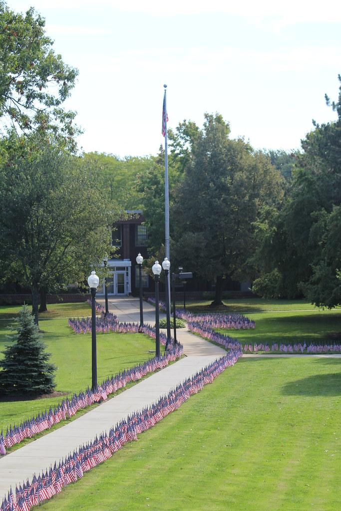Kent State Ashtabula Student Veterans Association 2014 'Field of Honor' display (Sept. 8, 2014)