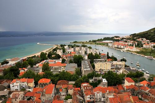 croatia hrvatska rivermouth 2014 cetina kroatië omiš riviermonding uitzichtburchttoren viewfortresstower