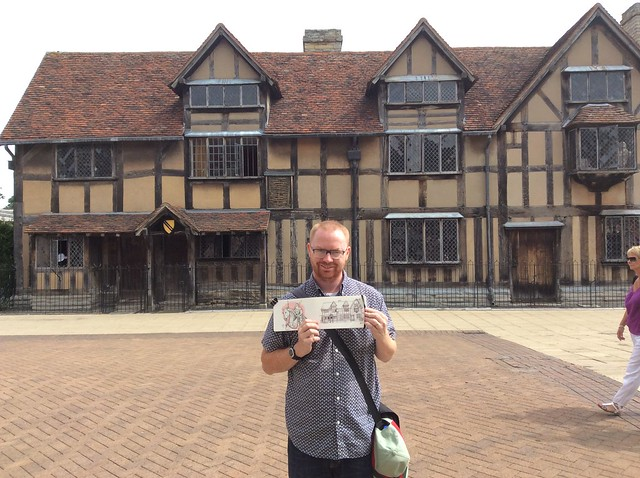 me with the house Shakespeare was born in