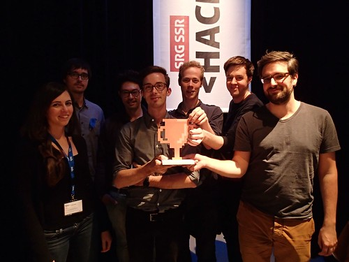 the winners of #srghack - bronze for bandscape