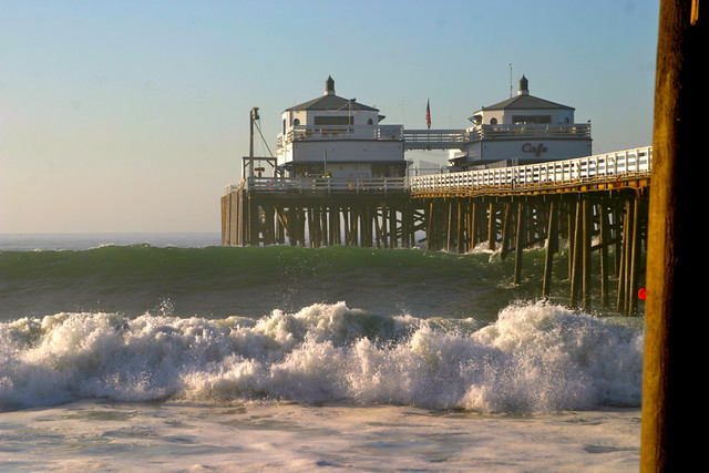 surf at the malibu pier