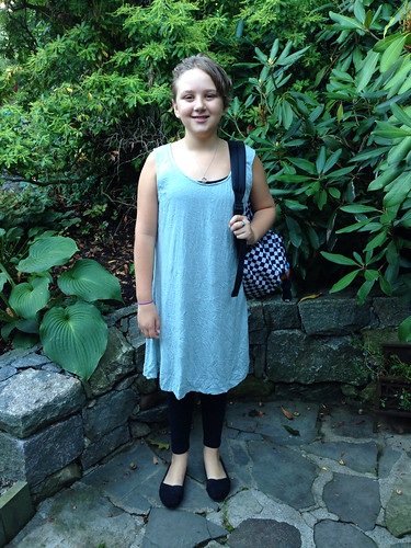 First day of sixth grade.
