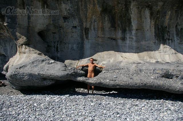 naturist 0002 Agia Roumeli beach, Crete, Greece