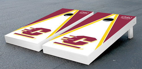 Central Michigan Chippewas Cornhole Game Set Triangle Wooden