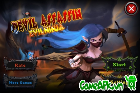 Devil Assassin: Evil Ninja v1.2 hack full tiền xu cho Android